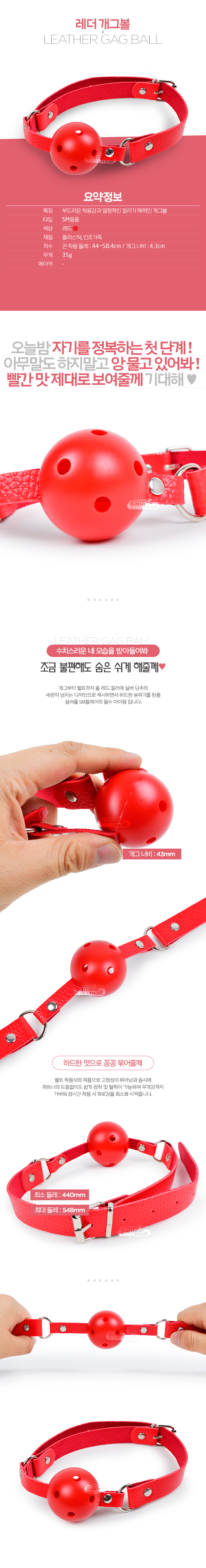 [SM 플레이] 레더 개그볼(Leather Gag Ball) (JBG)