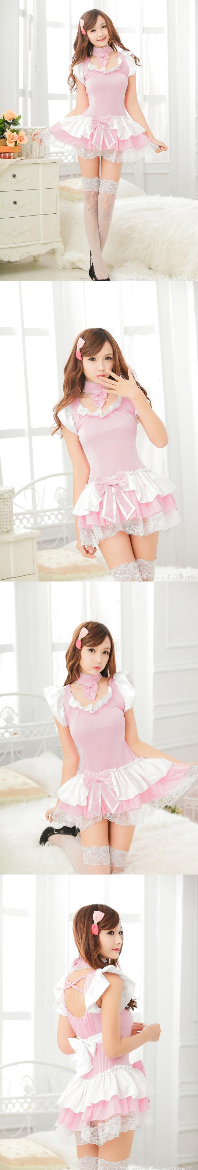 러블리 핑크 미니원피스[BA_C0125]