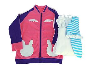 各パーツ展開。ジャンパー、ワンピ、ハイソックスの3点ともクオリティは最上級。リアル幼女に着せたくなります(笑)