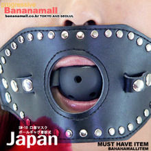 [일본 직수입] 마스크 공자갈 (SM-10 口部マスク ボールギャグ着脱式) (DJ)