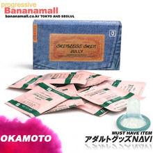 [일본 오카모토] 스킨레스 청쥴리 (10p) - 일명 청바지 콘돔 극초박형 인기제품!! <img src=https://cdn-banana.bizhost.kr/banana_img/mhimg/icon3.gif border=0>