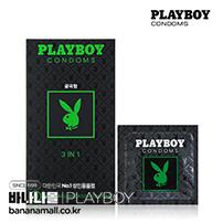 [PLAYBOY] 플레이보이 콘돔 쓰리인원 3 IN 1 1box(12p)<img src=https://cdn-banana.bizhost.kr/banana_img/mhimg/woo0314fdsdfds.gif border=0>