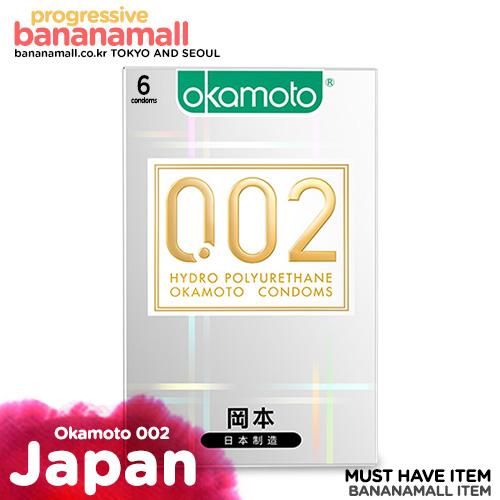 [일본 오카모토] 하이드로 폴리우레탄 0.02mm - 초박형 열전도 콘돔 1box(6p)<img src=https://cdn-banana.bizhost.kr/banana_img/mhimg/custom_19.gif border=0>