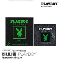 [PLAYBOY] 플레이보이 콘돔 쓰리인원 1box(3p)