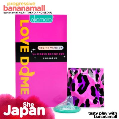 [일본 오카모토] 러브돔 (쉬 s+he) 1box(12p) -천연 알로에 함유 / 러브젤이 일반콘돔에비해4배함유<img src=https://cdn-banana.bizhost.kr/banana_img/mhimg/custom_19.gif border=0>