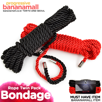 [영국 직수입] 리스트레인 미 본디지 로프 트윈 팩(Restrain Me Bondage Rope Twin Pack) - 그레이의 50가지 그림자/러브허니(FS-52421) (LVH)