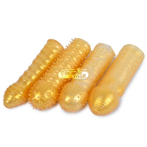 [특수 콘돔] 골드 크리스탈 슬리브(Gold Crystal Sleeve) - 아이챠오(6922359302496) (ICH)(DJ)
