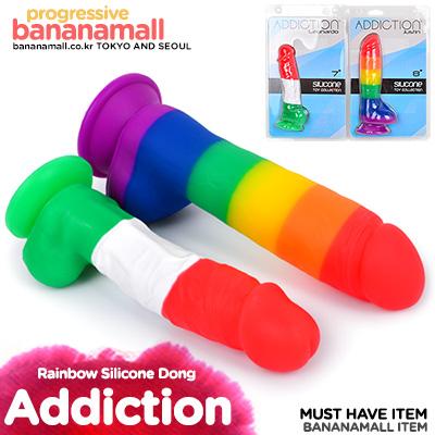 [캐나다 직수입] 어딕션 레인보우 실리콘 딜도(Addiction Rainbow Silicone Dong)(677613874016) (BMS)