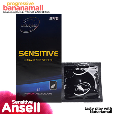 [+3P(랜덤) 추가 증정] [호주 안셀] 센시티브 1box 12p(Ansell Sensitive) - 프리미엄