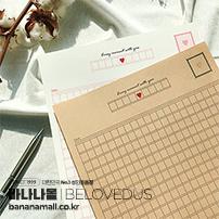 [빌럽어스] 원고지 편지지 (화이트-핑크) - 빌럽어스(8809690580272)