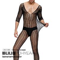 블랙 레이스 바디스타킹 포 맨(Black Lace Bodystocking For Men) - 오예(MP162) (OHY)